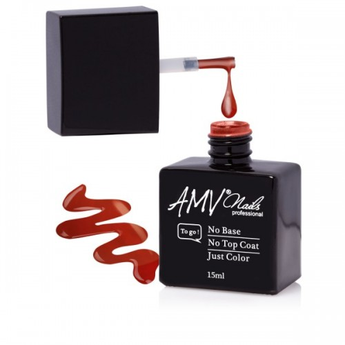 Gel lac 3 in 1 AMV Nails-Metallic Red