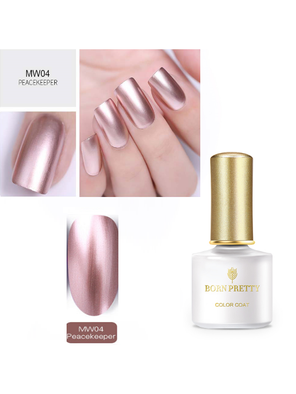 Mirror Metal Nail Art Polish Soak Off UV Gel MW04