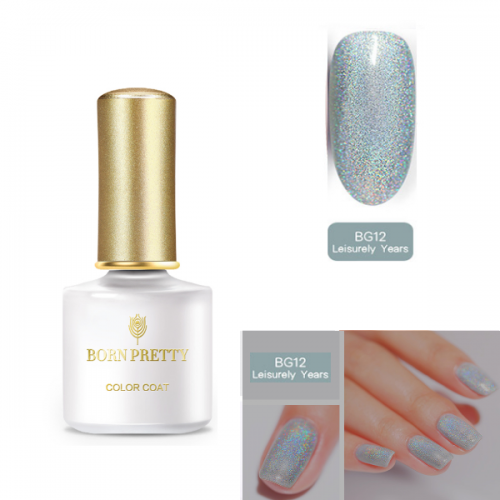 BORN PRETTY Holographic Gel Polish Soak Off BG12