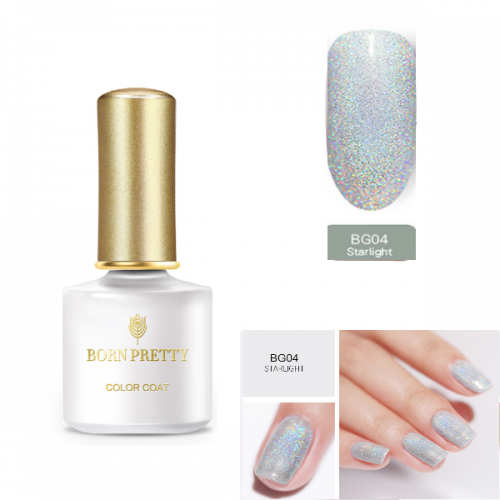 BORN PRETTY Holographic Gel Polish Soak Off BG04
