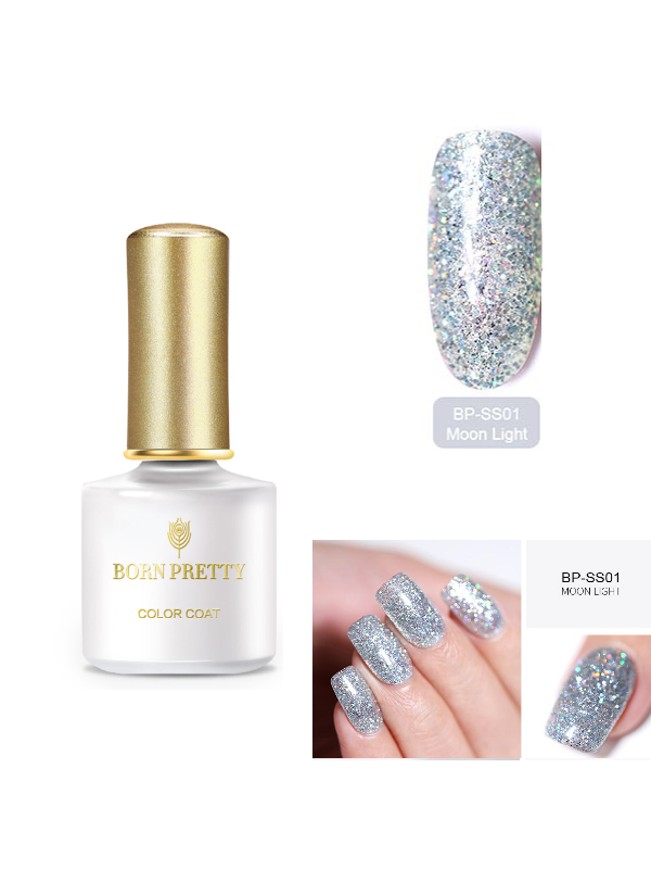 BORN PRETTY Glitter UV Gel Bling Sequins Soak Off BP-SS01