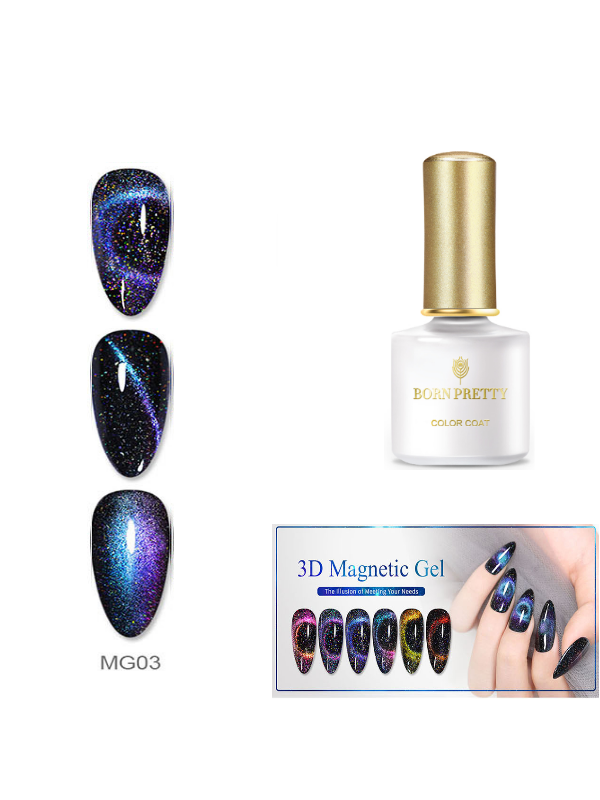 3D Chameleon Cat Eye Gel Nail Polish Magnetic Gel Soak Off UV Gel MG03