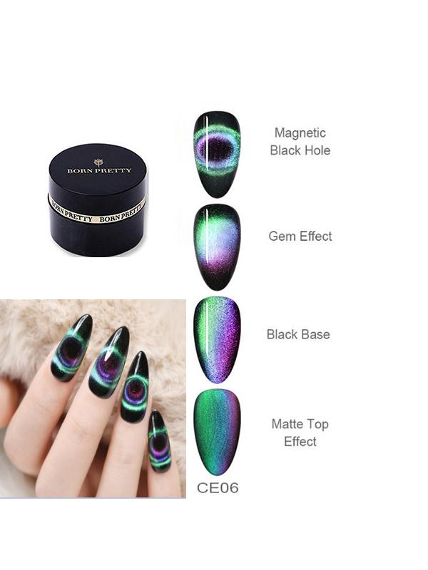 BORN PRETTY 9D Magnetic Gel Nail Polish Soak Off -CE-06
