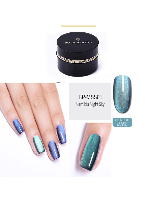 5D Cat Eye Magnetic Gel Polish Starry Sky Soak Off UV MSS01