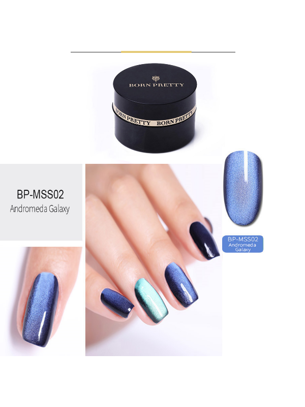 5D Cat Eye Magnetic Gel Polish Starry Sky Soak Off UV MSS02